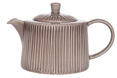 Cosy Relief Taupe theepot 1.2 liter