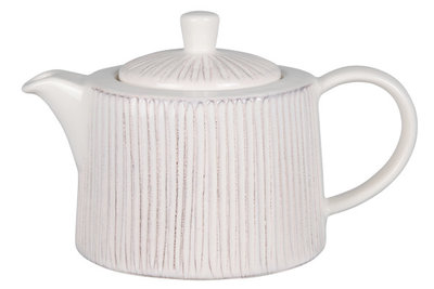 Cosy Relief White theepot 1.2 liter
