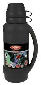 Thermos Premier zwart thermosfles 1.8 liter