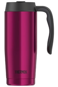 Thermos Basics Inox magenta thermosbeker 0.47 liter