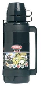 Thermos Mondial zwart thermosfles 1 liter