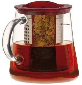 Cosy Finum rood theepot 0.8 liter